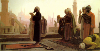 מוסלמים בעת תפילה
