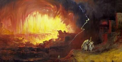 סדום ועמורה - שני אנשים נמלטים מהתופת