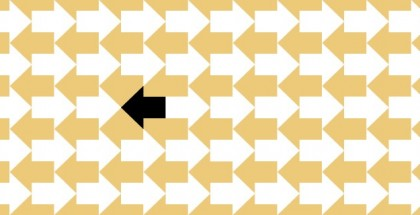 חצים הפונים לכיוון אחד, כשחץ אחד מביניהם פונה אל הכיוון השני