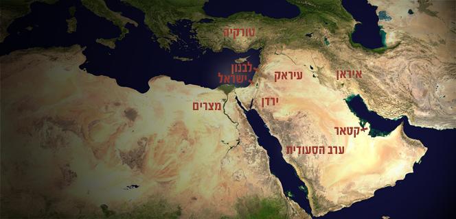 מפה של המזרח התיכון