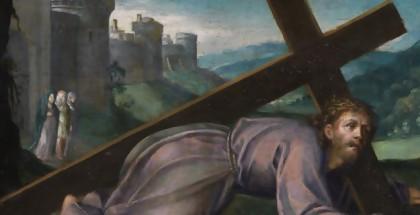 ישו כשהצלב על גבו