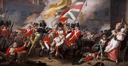המלחמה בין הבריטים והצרפתי באי ג'רזי, ציורו של ג'ון קופלי