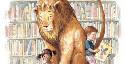 אריה הספרייה כריכת הספר