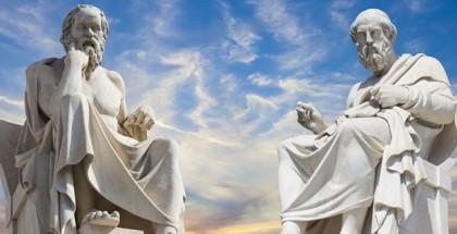 פסלים של פלאטו וסוקרטס