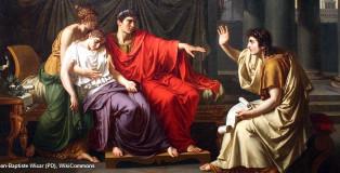 וירג'יל מקריא את האינאיס לאוגוסטוס טוס