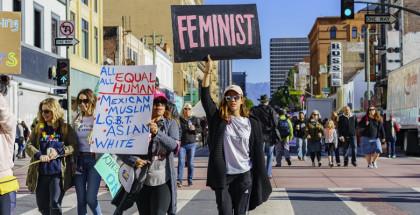 הפגנה בעד פמיניזם ושוויון זכויות לנשים